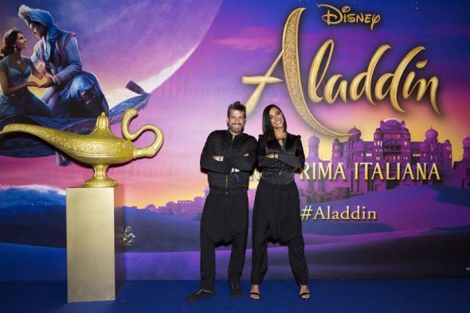 Edoardo Stoppa all'anteprima di Aladdin a Milano.