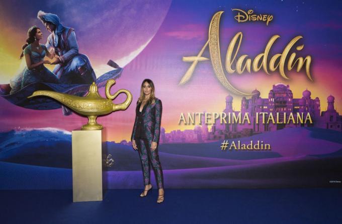 Elisa Taviti all'anteprima di Aladdin a Milano.
