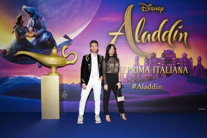 Gianmarco Zagato all'anteprima di Aladdin a Milano.