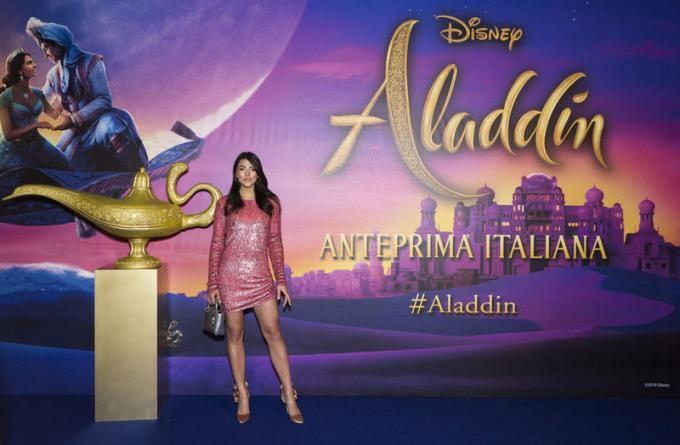 Giulia Salemi all'anteprima di Aladdin a Milano.