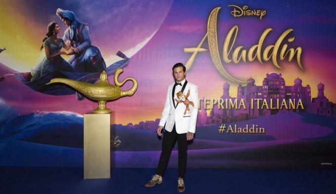 Iconize all'anteprima di Aladdin a Milano.