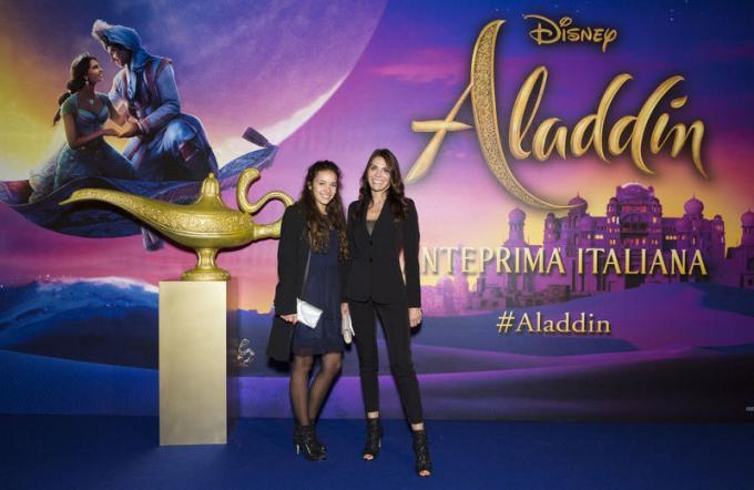 Iris Ferrari all'anteprima di Aladdin a Milano.