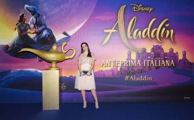 Lara Zorzetto all'anteprima di Aladdin a Milano.