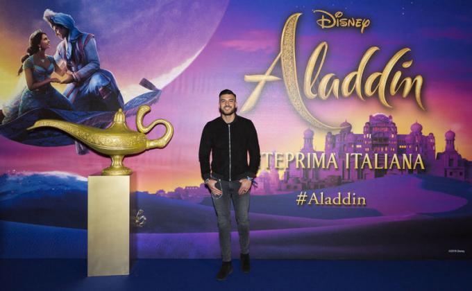 Lorenzo Riccardi all'anteprima di Aladdin a Milano.