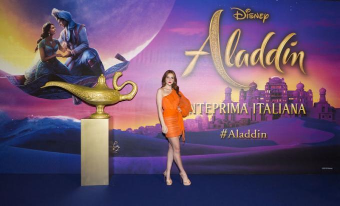 Ludovica Bizzaglia all'anteprima di Aladdin a Milano.