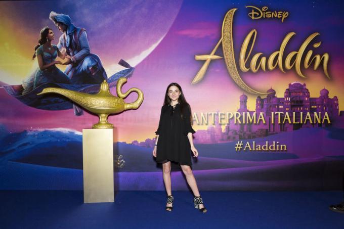 Ludovica Olgiati all'anteprima di Aladdin a Milano.