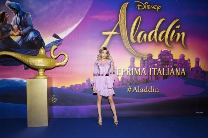 Ludovica Pagani all'anteprima di Aladdin a Milano.