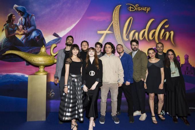 Martina Attili, Seveso Casino Palace, Leo Gassman, Anastasio e Bowland all'anteprima di Aladdin a Milano.