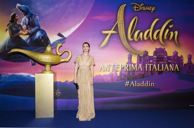 Melania Dalla Costa all'anteprima di Aladdin a Milano.