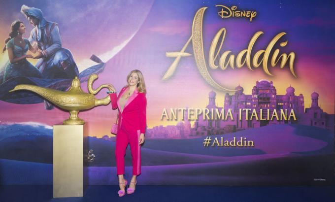 Paola Caruso all'anteprima di Aladdin a Milano.