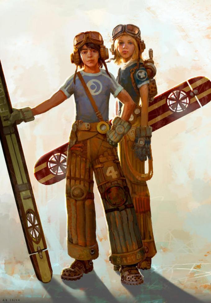 Armand Baltazar - Diego e Lucy. Studi dei personaggi per Timeless, Diego and the Rangers of the Vastlantic, Katherine Tegen Books. Digitale, 2014