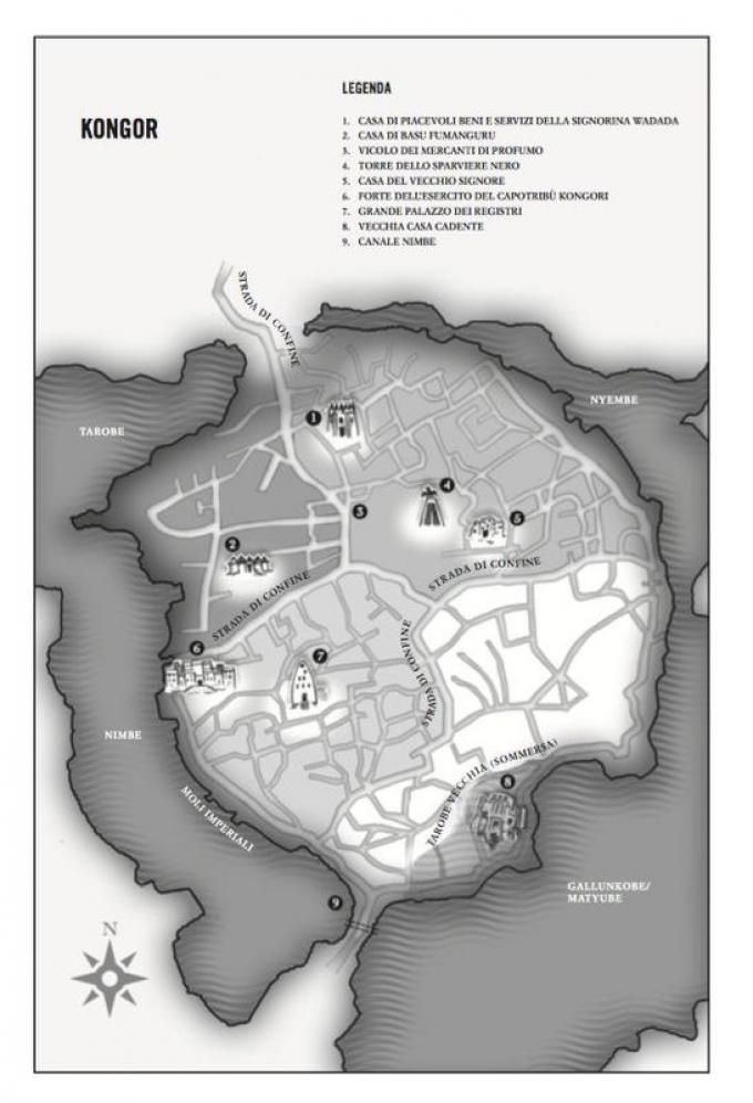 Kongor - Mappa di Marlon James