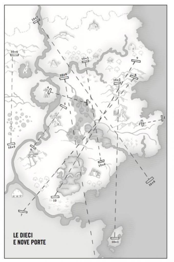 Le dieci e nove porte - Mappa di Marlon James
