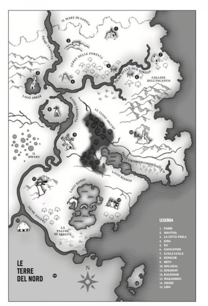 Le terre del nord - Mappa di Marlon James