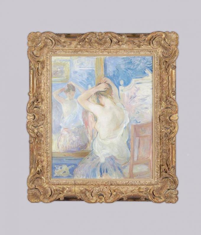Berthe Morisot - Devant la psyché -1890
