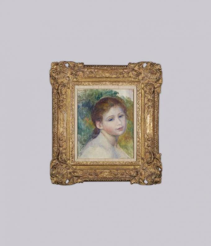 Pierre Auguste Renoir - Tête de femme - 1887