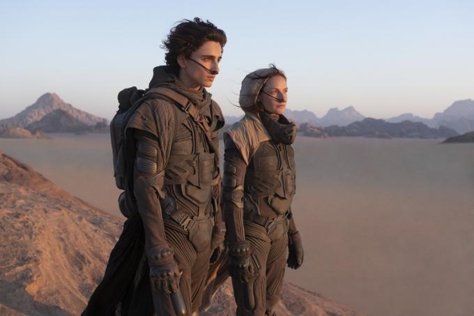 Timothée Chalamet (Paul Atreides) e Rebecca Ferguson in Dune