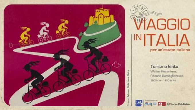 Le locandine turistiche di Viaggio in Italia - Walter Resentera Raduno Bersaglieresco, 1950 ca - 1950 ante