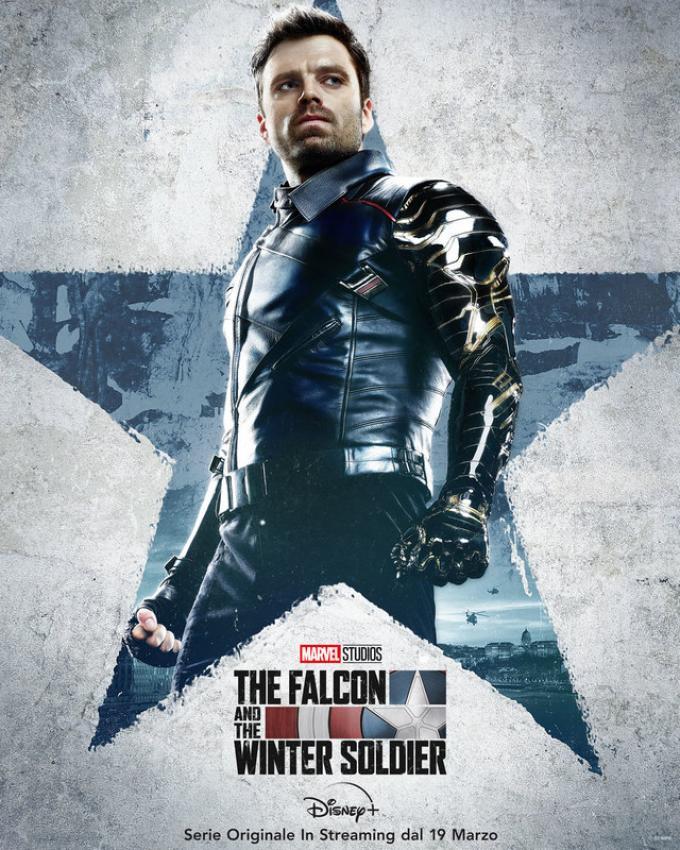Sebastian Stan è Bucky Barnes in The Falcon & The Winter Soldier