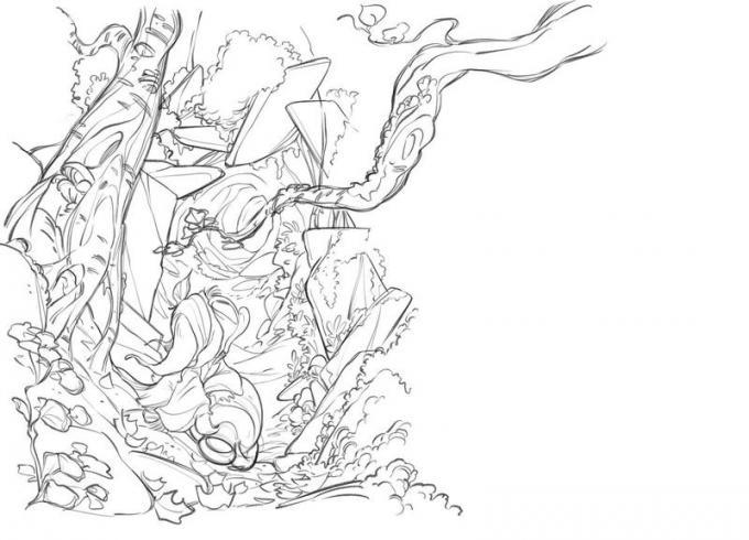 PaperDante. Disegno di Giada Perissinotto e Andrea Cagol