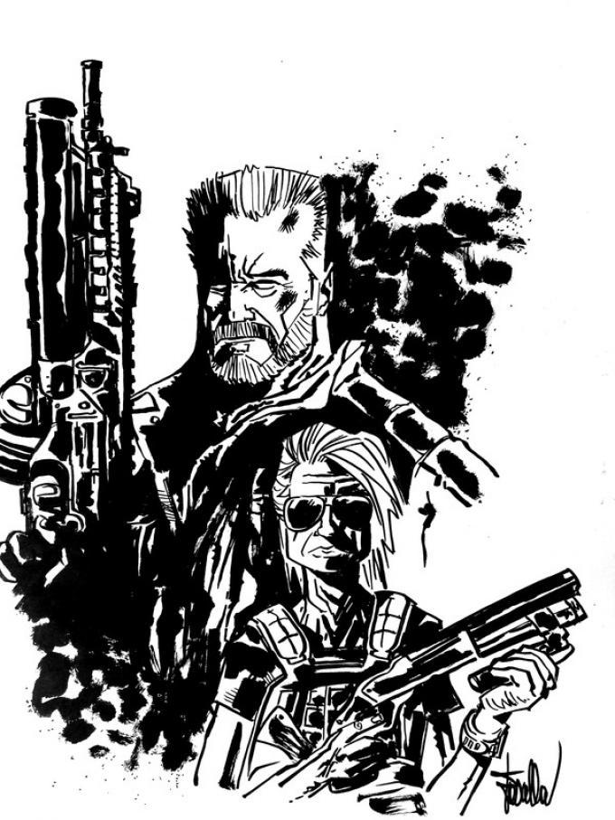 Terminator: il tempo è una macchina - Disegno di Mirko Fascella