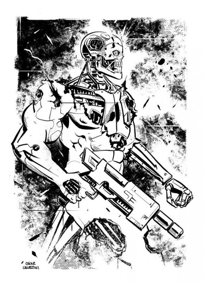 Terminator: il tempo è una macchina - Disegno di Oscar Celestini