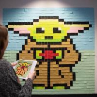 Un Baby Yoda gigante… con i Post-it
