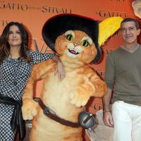 Incontro con Antonio Banderas e Salma Hayek, alias Gatto e Kitty