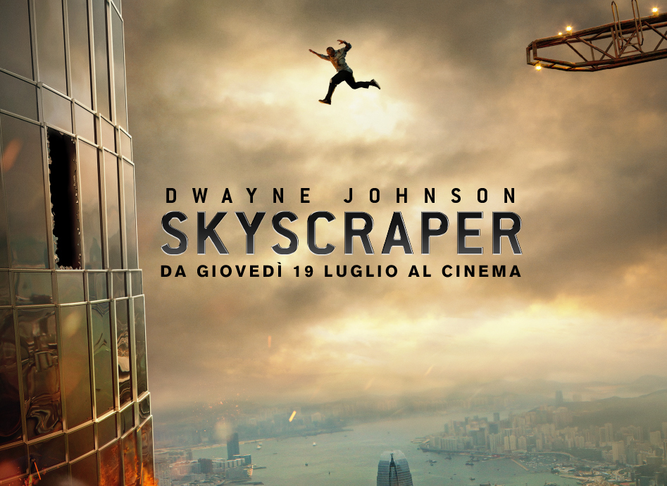 Dwayne Johnson in sala con Skyscraper